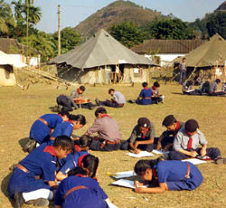 Camping by Scout Students at Bharat Scouts and Guides